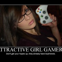 1559 - attractive gamer girl taken