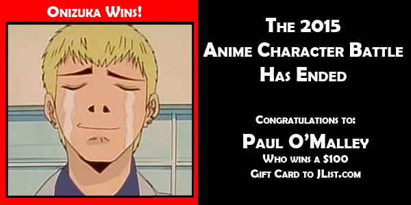 onizuka wins